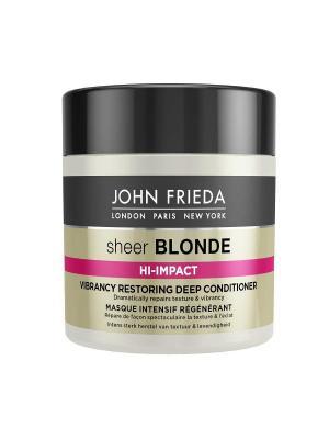 Маска для восстановления сильно поврежденных волос Sheer Blonde Hi Impact, 150 мл John Frieda. Цвет: белый