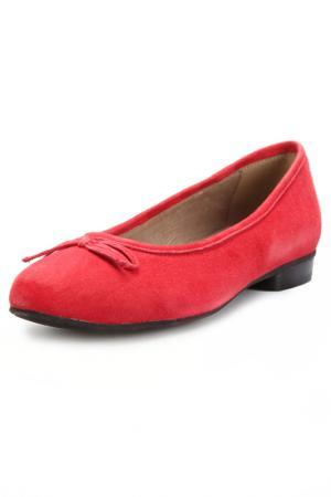 Балетки Andrea Conti. Цвет: красный