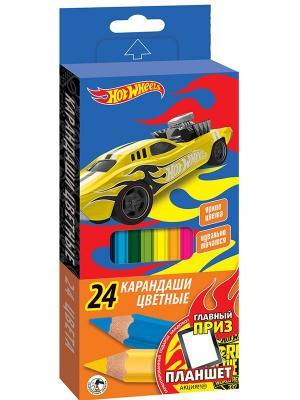 Карандаши цветные Mattel Hot Wheels 24 цвета. Цвет: синий