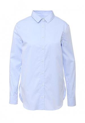 Рубашка MOS. Цвет: голубой