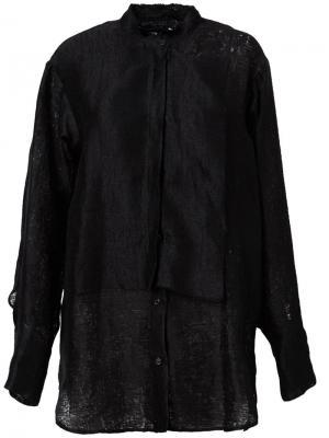 Свободная рубашка Yang Li. Цвет: чёрный
