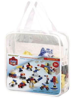 Конструктор-кубики Знаток ARTEC сумочка яркие цвета (54дет.). Цвет: белый