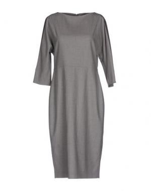 Платье до колена ANTONELLI. Цвет: серый