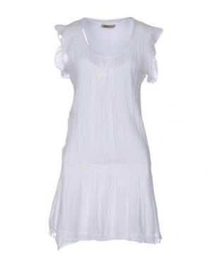 Платье до колена B.YU. Цвет: белый