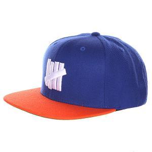Бейсболка  5 Strike Cap Blue Undefeated. Цвет: синий,оранжевый