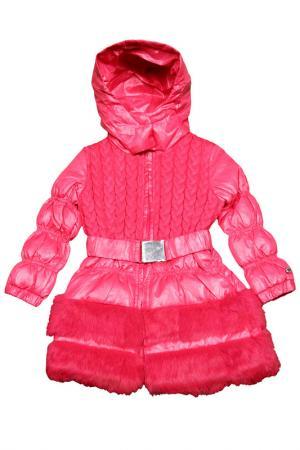 Пальто FUN. Цвет: розовый