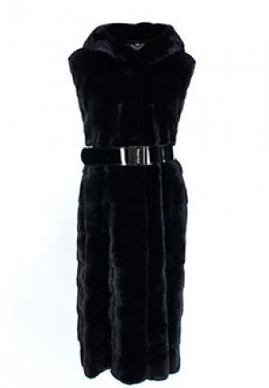 Меховой жилет MALA MATI. Цвет: черный