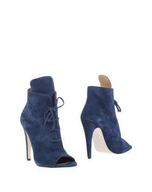 Полусапоги и высокие ботинки OFF WHITE c/o VIRGIL ABLOH. Цвет: темно-синий