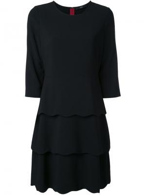 Платье с контрастными полосками Steffen Schraut. Цвет: чёрный