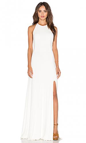 Макси платье nikki De Lacy. Цвет: белый