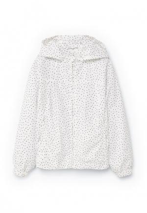 Куртка Mango Kids. Цвет: белый