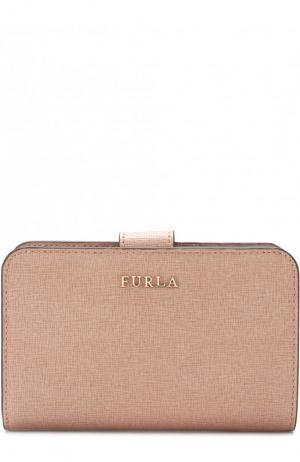 Кожаный кошелек с логотипом бренда Furla. Цвет: светло-розовый