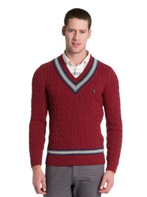 Кофта U.S. Polo Assn.. Цвет: красный