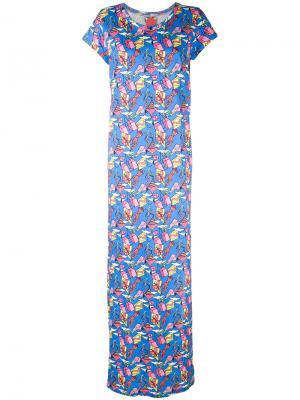 Платье с принтом Ultràchic. Цвет: синий