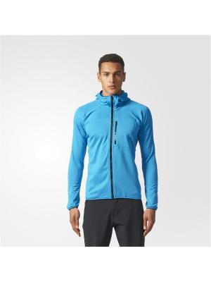Толстовка TRACEROCK HO FL  BOAQUA Adidas. Цвет: синий