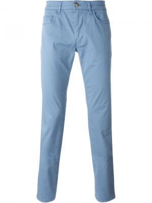 Классические брюки-чинос Fay. Цвет: синий