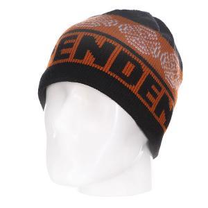 Шапка  Cb Stripe Skull Black/Orange/Red Independent. Цвет: черный,оранжевый