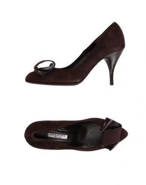 Туфли GUGLIELMO ROTTA. Цвет: темно-коричневый