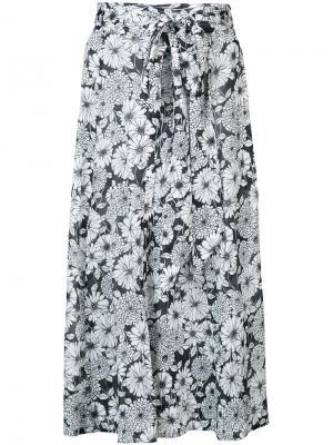 Пышная юбка с цветочным рисунком Lisa Marie Fernandez. Цвет: чёрный