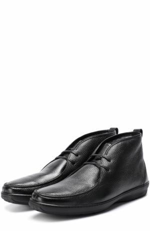 Кожаные ботинки на шнуровке Aldo Brue. Цвет: черный