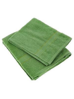 Махровое полотенце зеленый 70*140-100% хлопок, УзТ-ПМ-114-08-08 Aisha. Цвет: зеленый