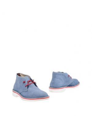 Полусапоги и высокие ботинки WALLY WALKER. Цвет: синий
