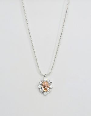 Krystal London Ожерелье с кристаллами Swarovski от. Цвет: серебряный