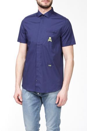 Рубашка Philipp Plein. Цвет: темно-синий