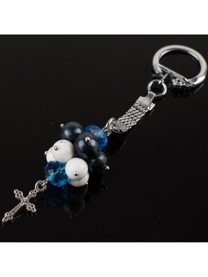 Брелок для ключей Гроздь жемчуг, турквенит Револю. Цвет: синий