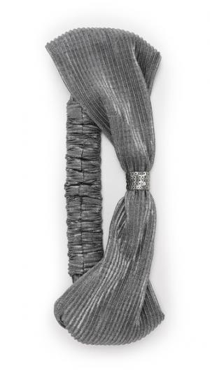 Обруч-тюрбан с добавлением металлизированной нити Namrata Joshipura. Цвет: пушечная бронза