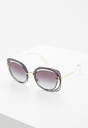 Очки солнцезащитные Miu. Цвет: серый