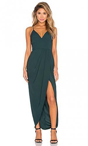 Макси платье stellar drape Shona Joy. Цвет: зеленый