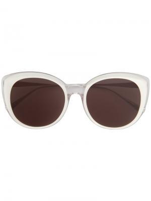 Солнцезащитные очки в оправе кошачий глаз Maska. Цвет: чёрный