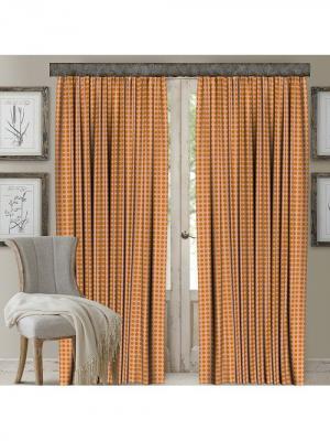 Комплект штор, мрамус 150*270 (2) МарТекс. Цвет: оранжевый