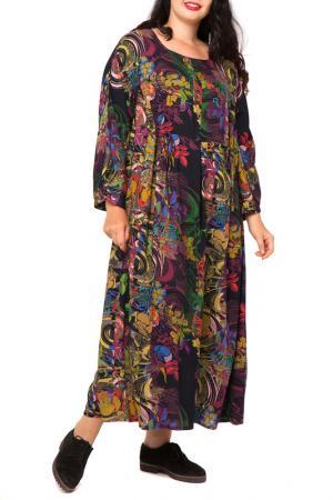 Платье Terra. Цвет: вилладж, цветной принт