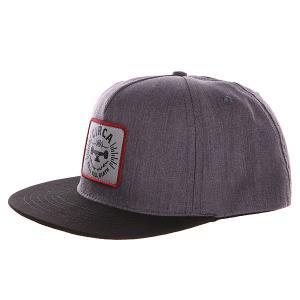 Бейсболка с прямым козырьком  Rtd Snap Back Charcoal/Black Circa. Цвет: серый,черный