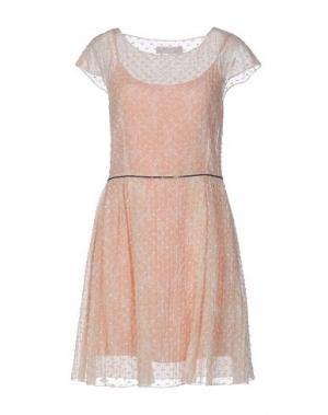 Короткое платье KRISTINA TI. Цвет: светло-розовый