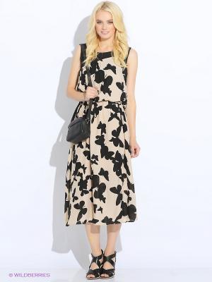 Платье MONOROOM. Цвет: черный, бежевый
