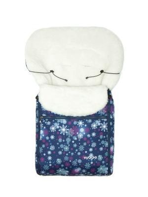 Конверт зимний Снежинки фиолетовые Vugga. Цвет: фиолетовый
