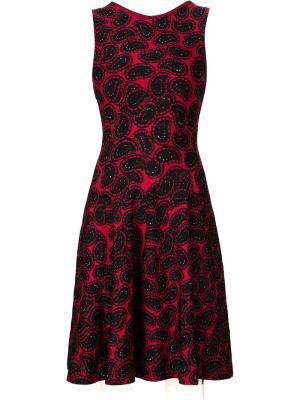 Жаккардовое платье с узором пейсли Issa. Цвет: красный
