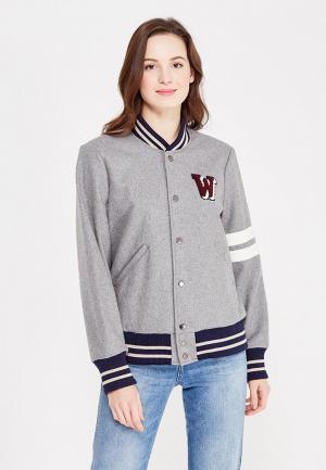 Куртка Wrangler. Цвет: серый