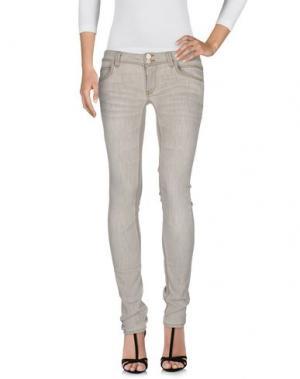Джинсовые брюки MANILA GRACE. Цвет: серый