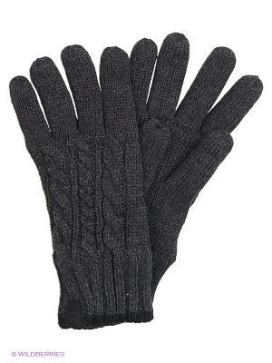 Перчатки Reserved. Цвет: темно-серый