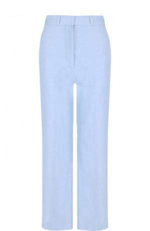 Укороченные однотонные брюки со стрелками Stella McCartney. Цвет: голубой