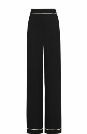 Расклешенные брюки с контрастной отделкой Weill. Цвет: черный
