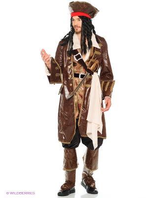 Карнавальный костюм Капитан Джек Воробей  (д/взр) Батик. Цвет: темно-коричневый, серый, бронзовый
