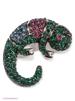 Подвеска Happy Garnets. Цвет: серебристый, малиновый, синий, зеленый