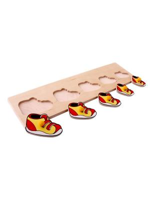 Сортер Ботинки ЛЭМ. Цвет: светло-желтый, красный