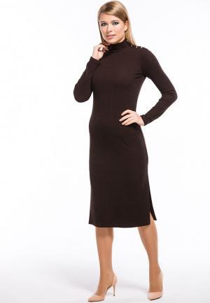 Платье Remix. Цвет: коричневый