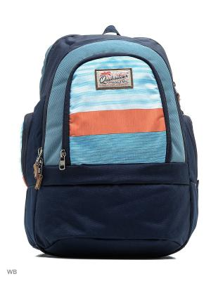 Рюкзак Quiksilver. Цвет: голубой, оранжевый